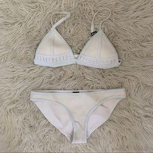 White crochet triangl bikini size S